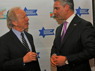 Dr. Samadi with Senator Joseph Lieberman 2012, Don Hamerman