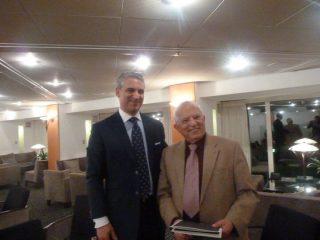 Dr. David B. Samadi with Menasheh Amir