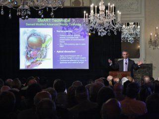 Dr. Samadi Shows a Presentation at the Harmonie Club